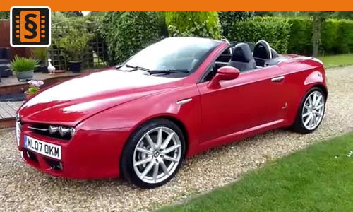 Chiptuning Alfa Romeo Spider 2.4 JTDM 147kw (200hp)