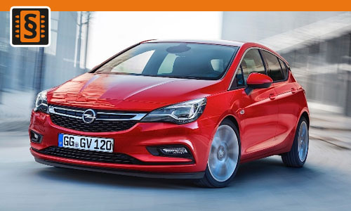 Chiptuning Opel Astra 1.4T  110kw (150hp)