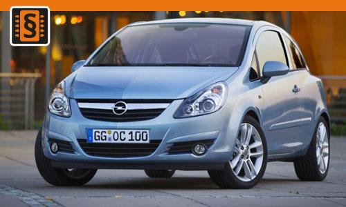 Chiptuning Opel Corsa 1.2 16v 59kw (80hp)