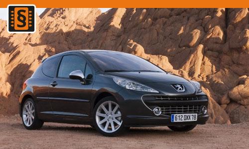 Chiptuning Peugeot 207 CC 1.6  88kw (120hp)