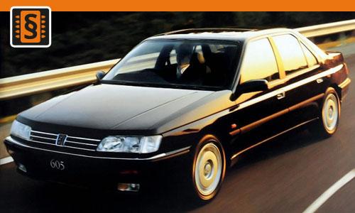 Chiptuning Peugeot 605 2.5 TD 95kw (129hp)