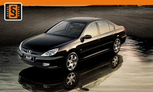 Chiptuning Peugeot 607 2.2 HDI 98kw (133hp)
