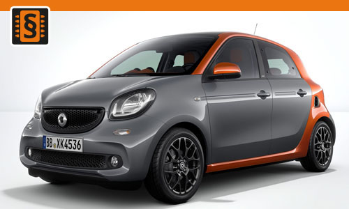 Chiptuning Smart ForFour 1.0  52kw (71hp)
