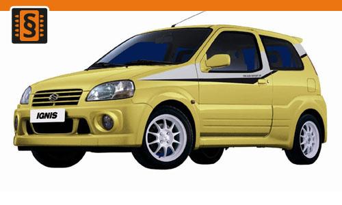 Chiptuning Suzuki Ignis 1.3 DDiS 51kw (70hp)