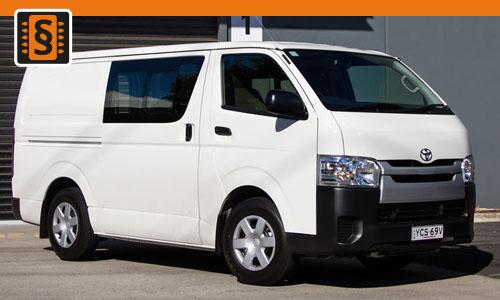 Chiptuning Toyota HiAce V 3.0 D-4D 92kw (125hp)