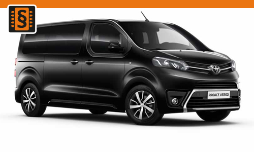 Chiptuning Toyota ProAce 2.0 D-4D 94kw (128hp)