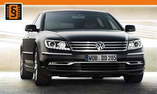 Chiptuning Volkswagen Phaeton 2.5 TDI 132kw (180hp)