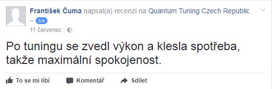 Facebook recenze Quantum chiptuning - František Čuma